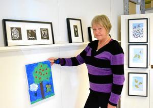Norakonstnären Anita LIndgren på Blå Soffan i Kopparberg.