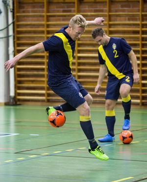 Christoffer Skoog på futsallandslagets första läger,  i Lidingö 2012. Akrivfoto: Christine Olsson/TT