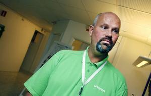 NÖJD MED MÄSSAN. Mikael Palm, fackordförande och en av dem som arrangerade jobbmässan för de Ericssonanställda, var nöjd.