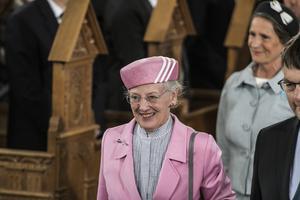 Drottning Margrethe firar 500 årsjubileet av reformationen i Haderslev, där Danmark tog beslutet att reformera sin kyrka. Margrethe har gjort flera betydande insatser för danskt kulturliv och har på senare år deltagit i debatten om dansk kultur och dess värderingar.