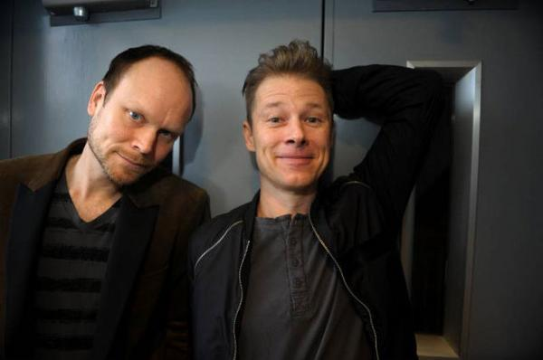 Kristian Luuk och Per Sinding-Larsen har kul ihop även utanför jobbet. De delar samma humor. Foto: Leif R Jansson/SCANPIX