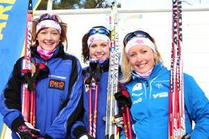 Johanna Meyer, Ida Indahl och Jennie Jirhed. Där har ni Östersunds segrande damlag vid junior-SM.