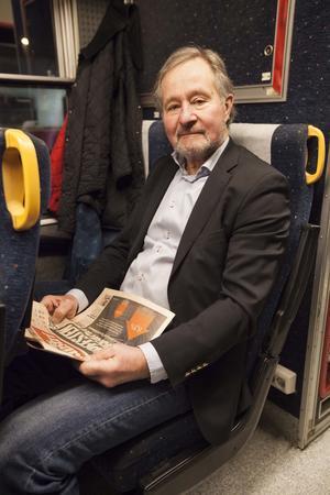 Gunnar Karlsson tycker att det är bra med utökad tågtrafik på sträckan Östersund - Mora.
