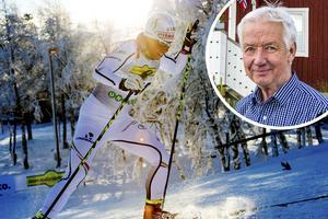 Stugbyägaren Sten-Olof Hoflin (lilla bilden) oroar sig inte för att Bruksvallarna delvis förlorar skidpremiären.