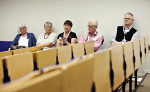 Birgitta Ericsson, Kerstin Andersen, Elisabeth Engström Sten, Olle Olsson och Stefan Sjöholm har jobbat hårt under ett års tid med Släktforskardagarna.