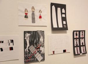 På utställningen kan man också ta del av illustrationer.
