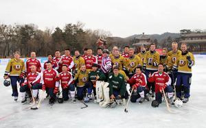 Nordic Vikings och kinesiska landslaget på gemensam lagbild.