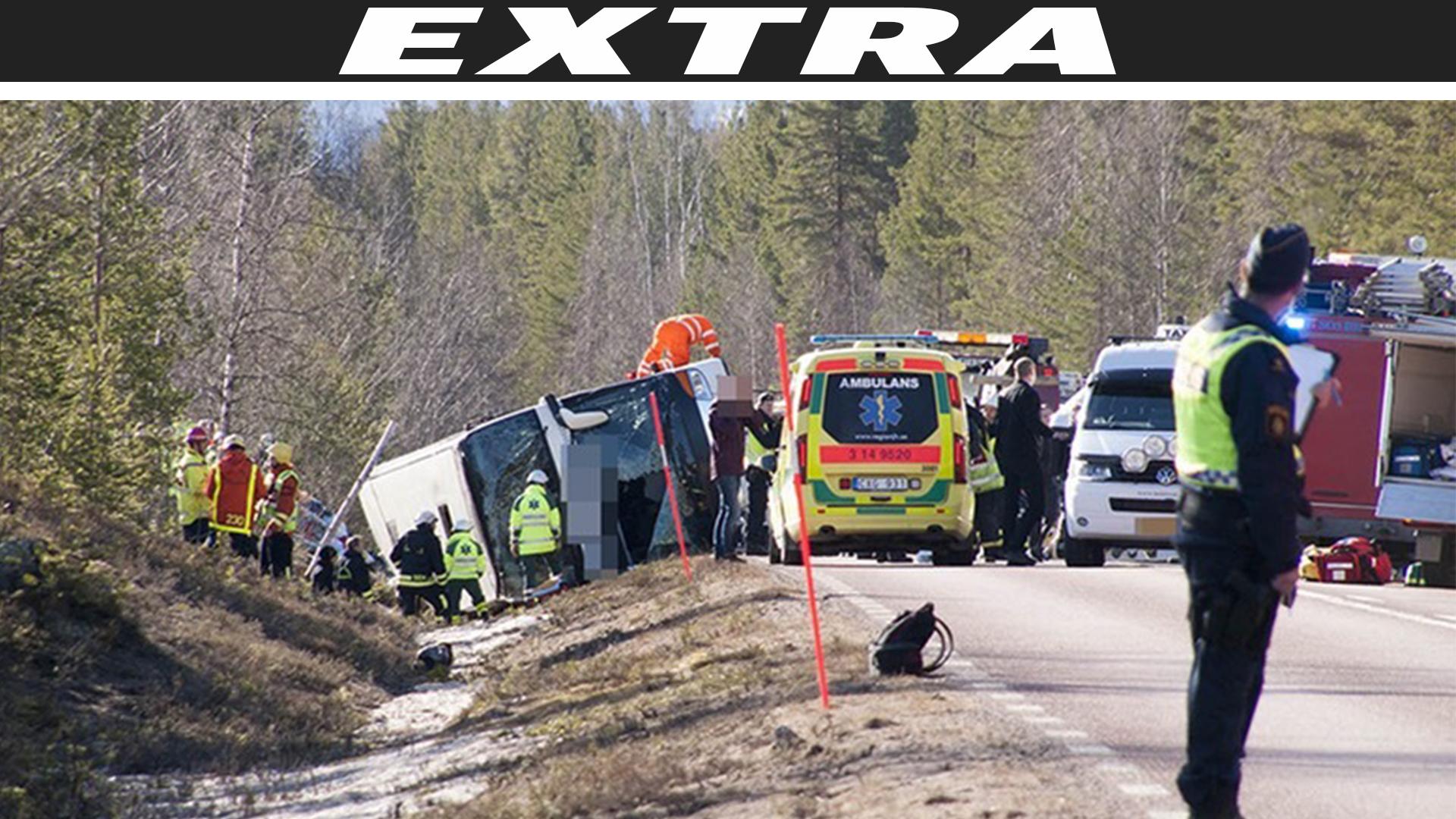 Minst 27 omkom i bussolycka