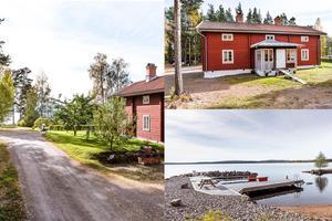 Fastigheten på Sjöstigen 4 ligger 75 meter från Runn och har egen båtplats.