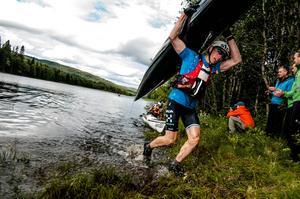 Robert Lindberg, Umeå, tog en överlägsen seger i Åre Extreme Challenge på lördagen.