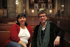 Anna Jauring och Fred Sjöberg ser fram emot helgens konserter.