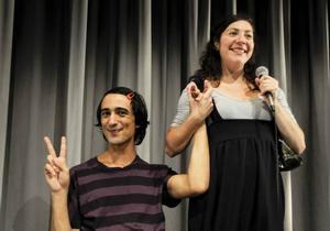 Fem gånger Gud. Med Hamadi Khemiri och Gloria Tapia.Foto: Joakim Strömholm