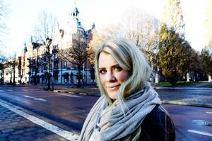 – Det har känts lite osäkert vid Stortorget, ibland har bussen fått stanna och tuta, säger Ulrika Hård som regelbundet åker 91:ans buss till och från Valbo.