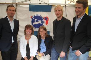 Åsarnas medaljstinna femklöver: Johan Olsson, Emma Wikén, Ida Ingemarsdotter, Lars Nelson och Teodor Peterson.