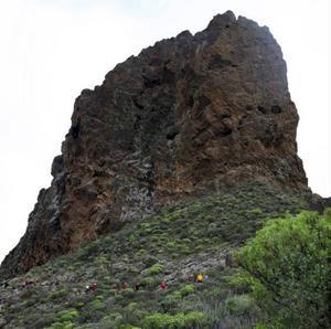 Vandringsgrupp i bergen på Gran Canaria.Foto: Johan Öberg