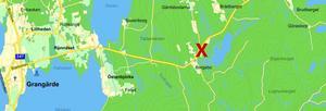 Singelolyckan inträffade på väg 644 utanför Grangärde.
