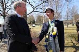 Lärare Anders Schön och student Helmer Söderberg, Bollnäs.