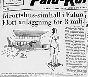 Året 1962 - en simhall planeras vid Västra Skolan. Vad händer med badhuset?