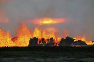 Under utbrottet i Bardarbunga lyckades forskarna studera den största calderakollapsen som någonsin övervakats.   Foto: Gro Birkefeldt Moller Pedersen/Institute of Earth Sciences/University of Iceland