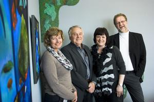 Nystart. Lenneke Sundblom, Bengt Ericsson, Irene Solberg Ruhn och Björn Ahlsén hoppas alla på att Roslagsmuseet kan öppna snart igen. Foto mia Pääsuke