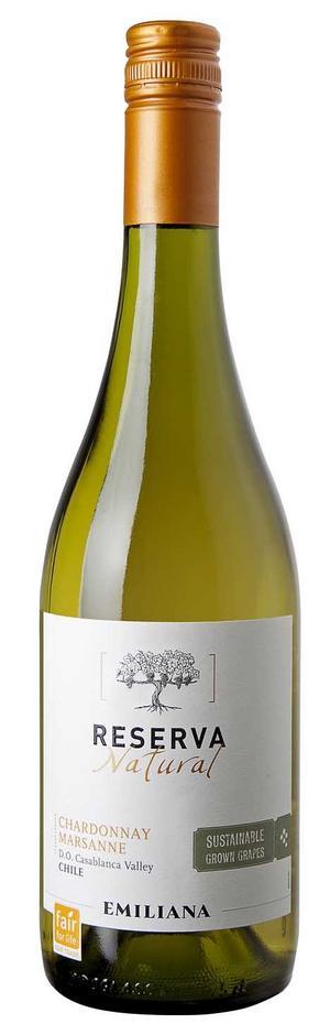 Gott ekologiskt. Emiliana Reserva Chardonnay Marsanne är ett mycket gott och prisvärt chilenskt vin.