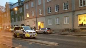 Här på Lövstagatan inträffade rånet mot en guldsmed.