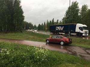 Olyckan inträffade strax innan klockan 17.00 på onsdagseftermiddagen.