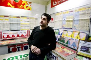 Rodar Hajo befarar att han går i konkurs när Svenska Spel inte vill ha hans butik som tipsombud längre.