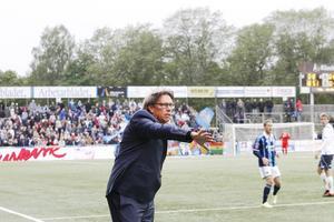 Pelle Olsson när han var tillbaka på Strömvallen som Djurgårdstränare 2014.
