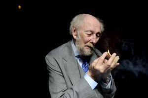 Författaren Torgny Lindgren inför sitt 75 års firande.