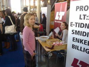 En av LT:s två nyhetschefer, Alexandra Westerlund Karlsson är på universitetet.