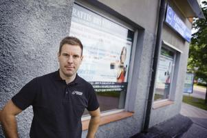 """ÖPPNAR NYTT. Philip Gunholmer expanderar med gymmet Everytime Fitness och startar en filial på Brynäs. """"Flera av mina kunder bor på Brynäs och här finns bara två gym sedan tidigare"""", säger han."""