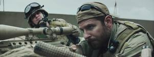 Krypskytten Chris Kyle (spelad av Bradley Cooper) har beskrivits som den dödligaste soldaten i amerikansk historia.         Foto: SF
