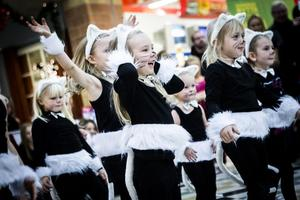 Barnen i Ministars visade på riktigt klös i sin uppvisning. På bilden syns bland andra Stina Liljestrand, Lilja Helsing, Filippa Nymark och Elsa Södergren.