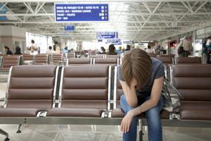 Det kan vara trist på flygplatsen.
