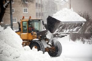 Snösvängen är i full gång i Härnösandsområdet.