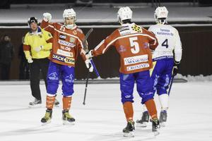 Klas Nordström, här i sin första match efter återkomsten förra året. Hela 6 mål blev det den matchen.