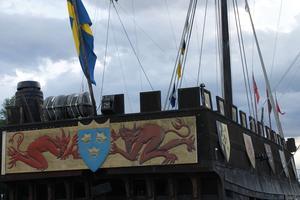 Ombord originalskeppet hittades kanonkulor, så man utgår från att det varit ett krigsskepp.
