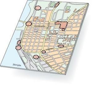 Här finns möjligheter att parkera gratis i centrala Östersund. Grafik: Kjell Nilsson-Mäki