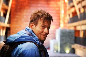 Skådespelaren Johannes Bah Kuhnke från Strömsund.