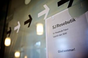 Sedan den 30 juni finns SJ:s enda resebutik i Borlänge.