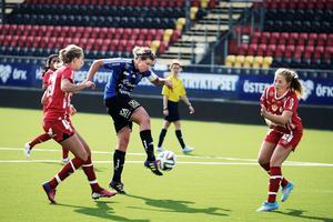 ÖDFF vann lördagens bortamatch mot Korsnäs med 1–2. Bilden är från förra helgens hemmamatch mot Gustafs.