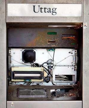 Klicka på bilden för att se den sprängda automaten.