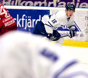 Med sex mål och fyra assists toppar Filip Forsberg Leksands poängliga. Mot Västerås fick han dock kliva av isen poänglös.