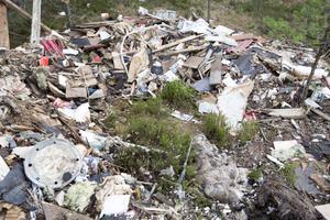 Stora mängder sopor har dumpats i skogen både nära Hillevik och utanför Trödje och kommer nästan säkert från samma ställe.