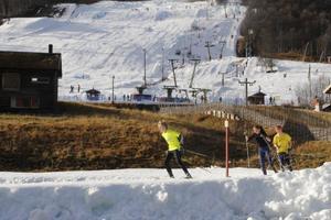 Både skidspår och backar är välfyllda med snö i Ramundberget.
