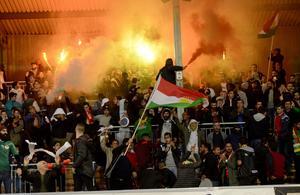 God stämning i Dalkurds klack efter andra segern 2015.