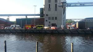 Räddningstjänsten, ambulansen och polisen var snabbt på plats.