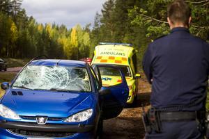 Polis, ambulans och räddningstjänst fanns på plats.