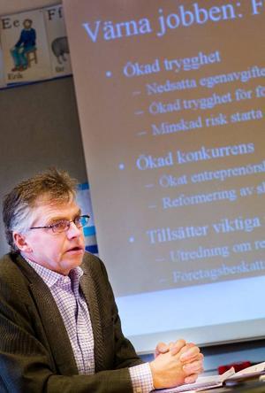 """""""Budgeten innehåller ett företagarpaket för att förbättra klimatet för företagare. Det är speciellt angeläget för Jämtland"""", säger riksdagsledamoten Per Åsling (C)."""